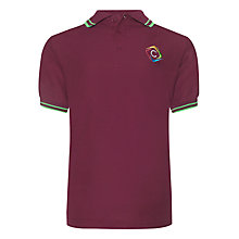 Buy Churchill Academy Unisex Stuart House Polo Shirt, Maroon/Green Online at johnlewis.com