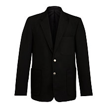Buy Boys' School Blazer, Black Online at johnlewis.com