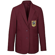 Buy Woodhill School Girls' Blazer, Maroon Online at johnlewis.com