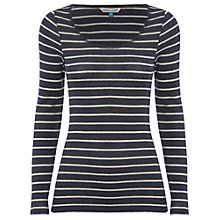 Buy White Stuff Molly Top, Navy Online at johnlewis.com