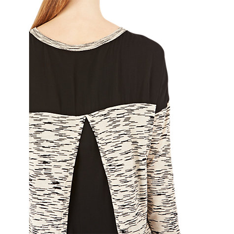 Buy Warehouse Space Dye Pleated Jumper, Black Online at johnlewis.com