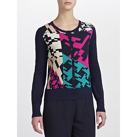 Buy COLLECTION by John Lewis Laci Geo Print Cardigan, Navy Online at johnlewis.com