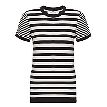 Buy COLLECTION by John Lewis Cali Striped Jumper, Black/Cream Online at johnlewis.com