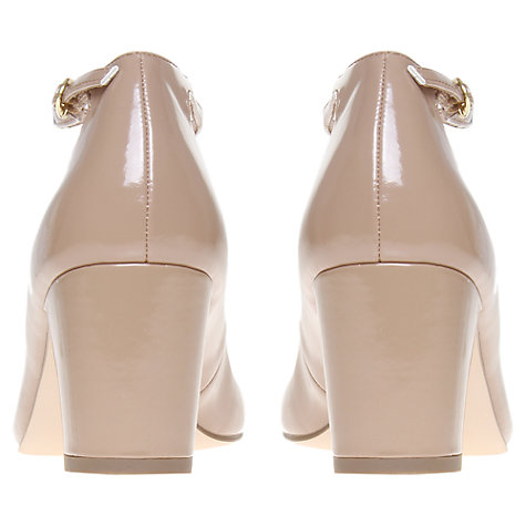 Buy KG by Kurt Geiger Daphine Round Toe T-Bar Shoes, Nude Patent Online at johnlewis.com