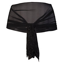 Buy Chesca Beaded Flapper Scarf, Black Online at johnlewis.com