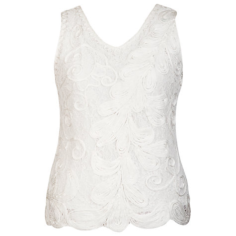 Buy Chesca Cornelli Lace Camisole, Ivory Online at johnlewis.com