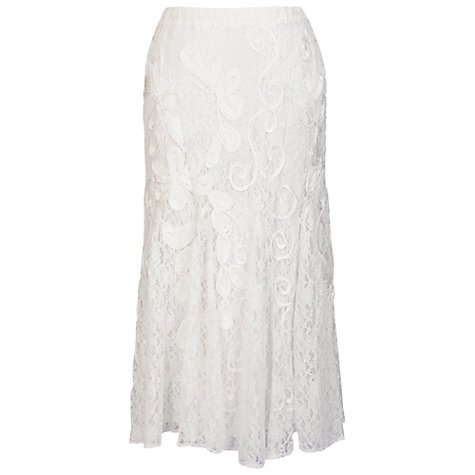 Buy Chesca Cornelli Lace Skirt, Ivory Online at johnlewis.com