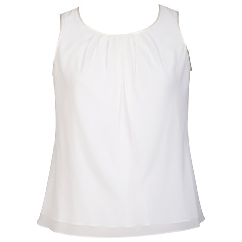 Buy Chesca Satin Trim Tuck Detail Camisole, Ivory Online at johnlewis.com