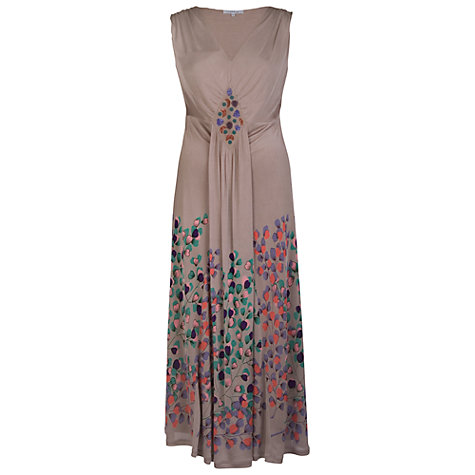 Buy Chesca Printed Maxi Dress, Stone Online at johnlewis.com