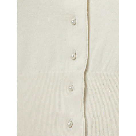 Buy Hobbs Kathleen Cardigan, Ivory Online at johnlewis.com