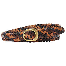 Buy Fossil Multi Woven Centrebar Belt Online at johnlewis.com
