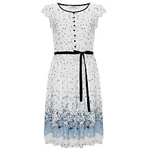 Buy Somerset by Alice Temperley Border Print Silk Dress, Blue/Ivory Online at johnlewis.com