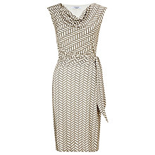 Buy COLLECTION by John Lewis Adele Herringbone Dress, Mocha/Cream Online at johnlewis.com