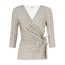 Buy COLLECTION by John Lewis Kirsten Herringbone Top, Mocha/Cream Online at johnlewis.com