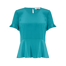 Buy COLLECTION by John Lewis Eve Peplum Top, Peacock Online at johnlewis.com