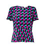 Buy COLLECTION by John Lewis Eve Spot Print Peplum Top, Purple/Mojito Online at johnlewis.com