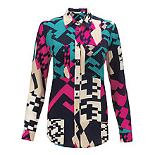 Buy COLLECTION by John Lewis Lola Geo Print Shirt, Multi Online at johnlewis.com