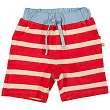 Buy Frugi Baby Towelling Organic Cotton Shorts, Red Online at johnlewis.com