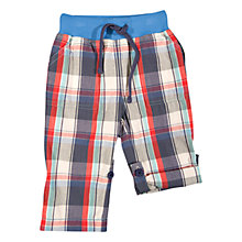 Buy Frugi Baby Checked Roll Up Organic Cotton Trousers, Multi Online at johnlewis.com