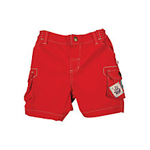 Buy Frugi Baby Explorer Organic Cotton Patch Shorts, Red Online at johnlewis.com