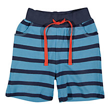 Buy Frugi Baby Striped Organic Cotton Shorts, Blue/Navy Online at johnlewis.com