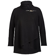 Buy Chesca Cable Collar Coat, Black Online at johnlewis.com