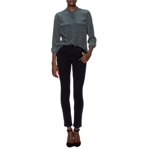 Buy Whistles New Skinny Jeans L30, Black Online at johnlewis.com