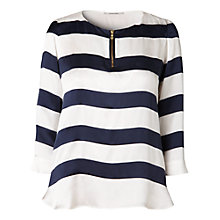 Buy Gérard Darel Striped Blouse, Navy/Ecru Online at johnlewis.com