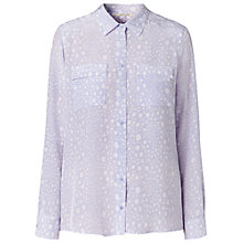 Buy Gérard Darel Pastel Croc Print Shirt, Violet Online at johnlewis.com