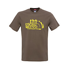 Buy The North Face Woodcut T-Shirt, Brown Online at johnlewis.com