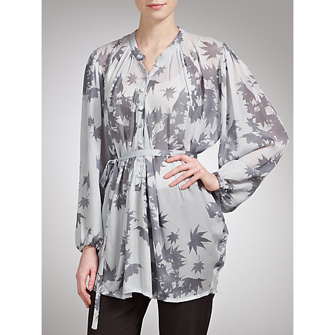 Buy Ghost Myla Tunic Top, Feather Print Online at johnlewis.com