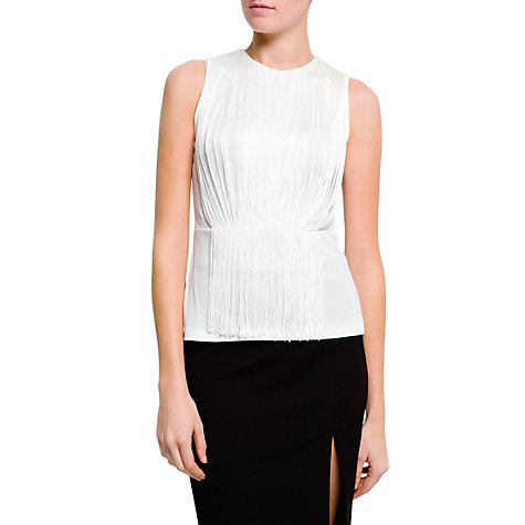 Buy Mango Fringed Top, Neutral Online at johnlewis.com