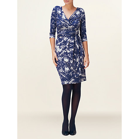 Buy Phase Eight Selina Print Wrap Dress, Ink/Ivory Online at johnlewis.com