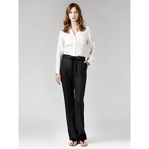 Buy Gérard Darel Linen Trousers, Black Online at johnlewis.com