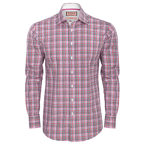 Buy Thomas Pink Kerr Slim Fit Shirt, Black/Pink Online at johnlewis.com