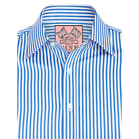 Buy Thomas Pink Algernon Stripe Shirt, Blue/White Online at johnlewis.com