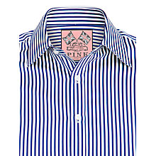 Buy Thomas Pink Algernon Stripe Shirt, Navy/White Online at johnlewis.com