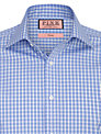Thomas Pink XL Sleeves Maynard Check Shirt, Blue