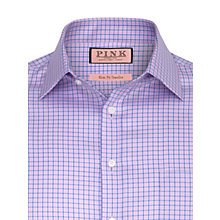 Buy Thomas Pink Sholto Check Shirt, Pink Online at johnlewis.com