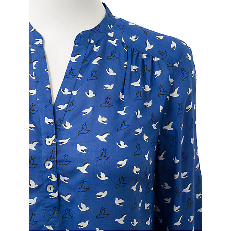 Buy East Bird Print Blouse, Blue Online at johnlewis.com