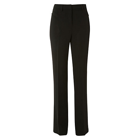 Buy Hobbs Sakia Trousers, Black Online at johnlewis.com
