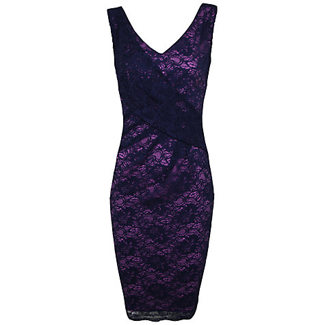 Buy Alexon Laced Lined Dress, Vista Blue Online at johnlewis.com