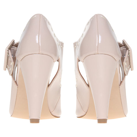 Buy KG by Kurt Geiger Aurora 2 Contrast Stitch Mary Jane Shoes, Nude Patent Online at johnlewis.com