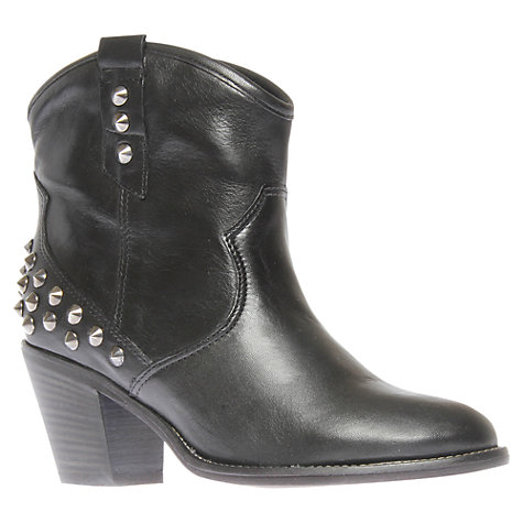 Buy Carvela Showdown Cowboy Ankle Boots, Black Online at johnlewis.com