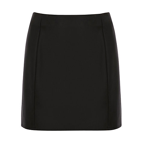 Buy Oasis PU Mini Skirt, Black Online at johnlewis.com