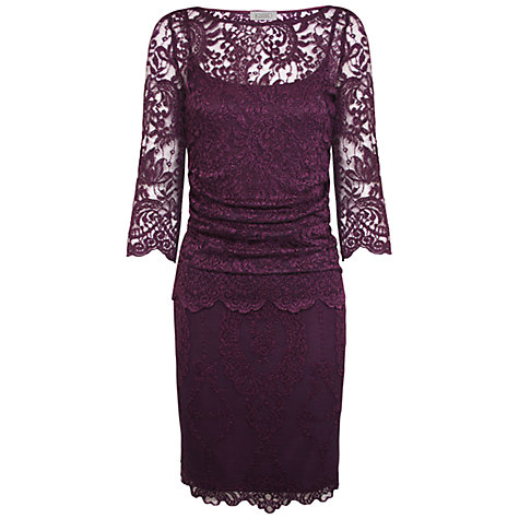 Buy Kaliko Lace Dress, Deep Purple Online at johnlewis.com