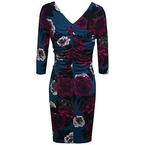 Buy Kaliko Hydrangea Dress, Teal/Multi Online at johnlewis.com