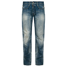 Buy Replay Billstrong Standard Straight Jeans, Stonewash Online at johnlewis.com