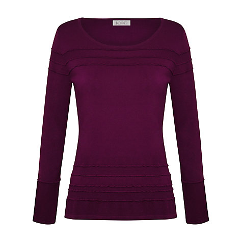 Buy Kaliko Ripple Hem Jumper, Bright Purple Online at johnlewis.com