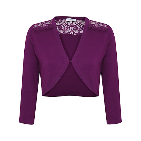 Buy Kaliko Lace Bolero, Deep Purple Online at johnlewis.com